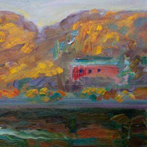 Фрагмент картины 1/3. Москва. Пейзаж. Сентябрь