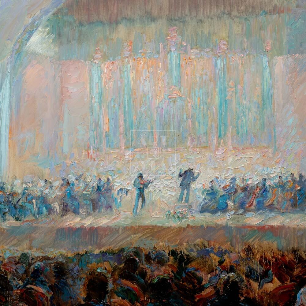 Фрагмент картины 1/3. Бытовой. В большом зале консерватории