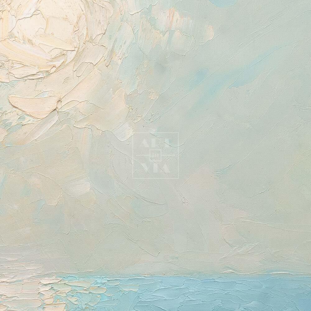Фрагмент картины 2/3. Пейзаж. Колоннада на берегу моря