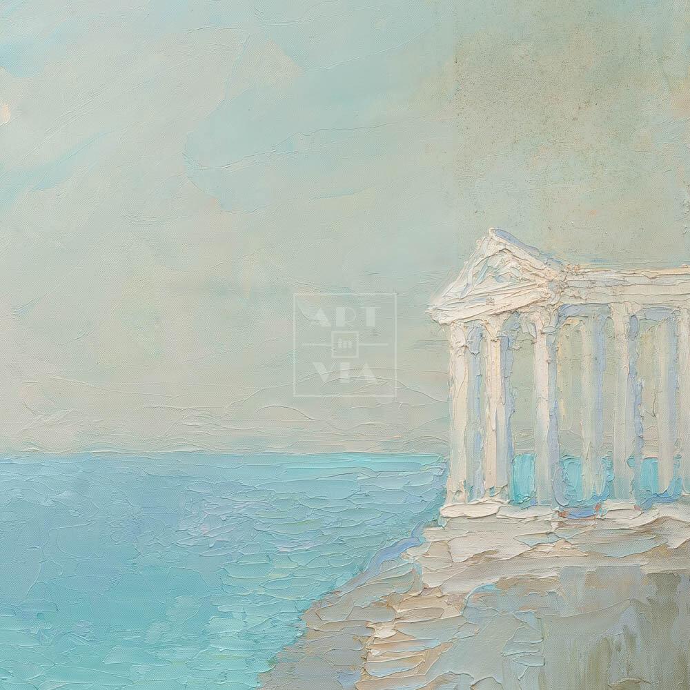 Фрагмент картины 3/3. Пейзаж. Колоннада на берегу моря