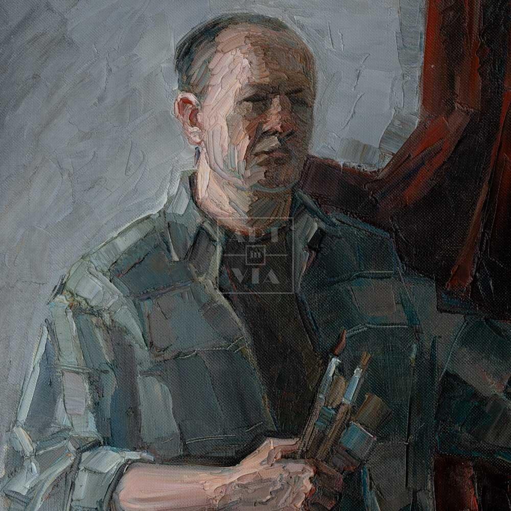 Фрагмент картины 1/3. № 7. Автопортрет