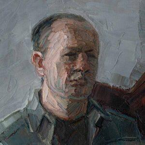 Фрагмент картины 3/3. № 7. Автопортрет