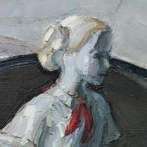 Фрагмент картины 2/3. Натюрморт со статуэткой пионерки и кастрюлей