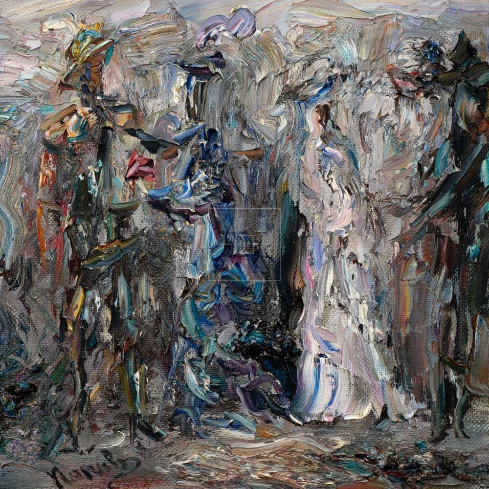 Фрагмент картины 1/3. Встреча