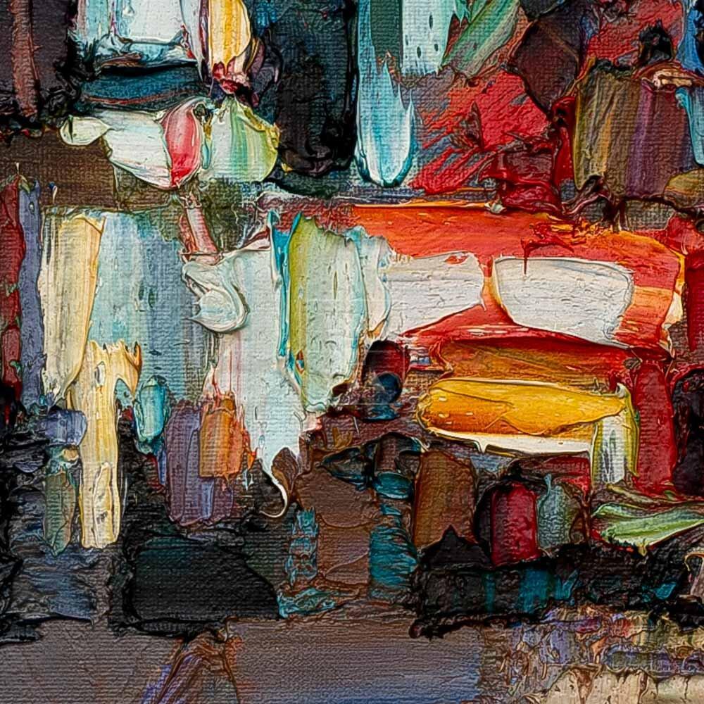 Фрагмент картины 2/3. Пейзаж. № 11. Улица Тверская в 0 часов 30 минут