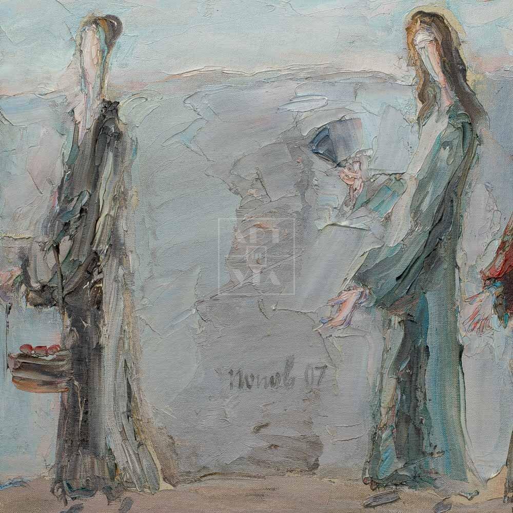 Фрагмент картины 1/3. Интересный сюжет. № 29. Вера. Надежда. Любовь