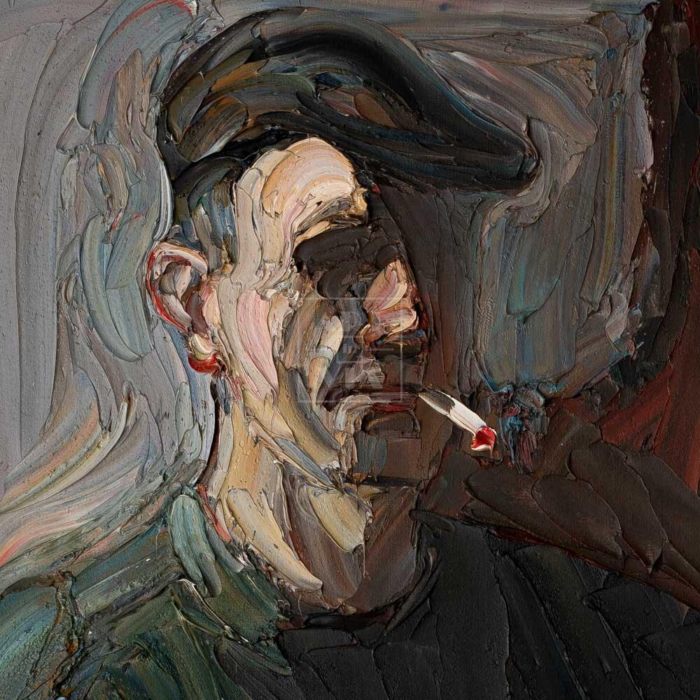 Фрагмент картины 1/3. № 8. Автопортрет