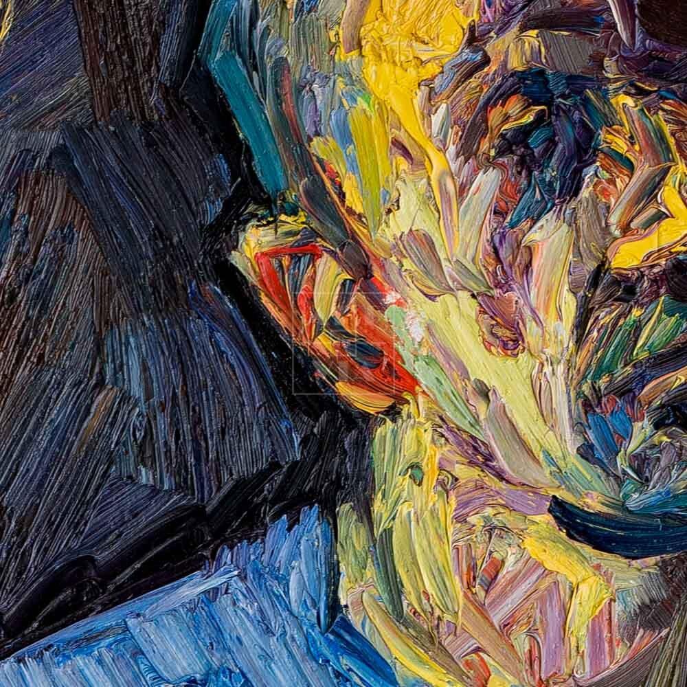 Фрагмент картины 2/3. № 9. Автопортрет