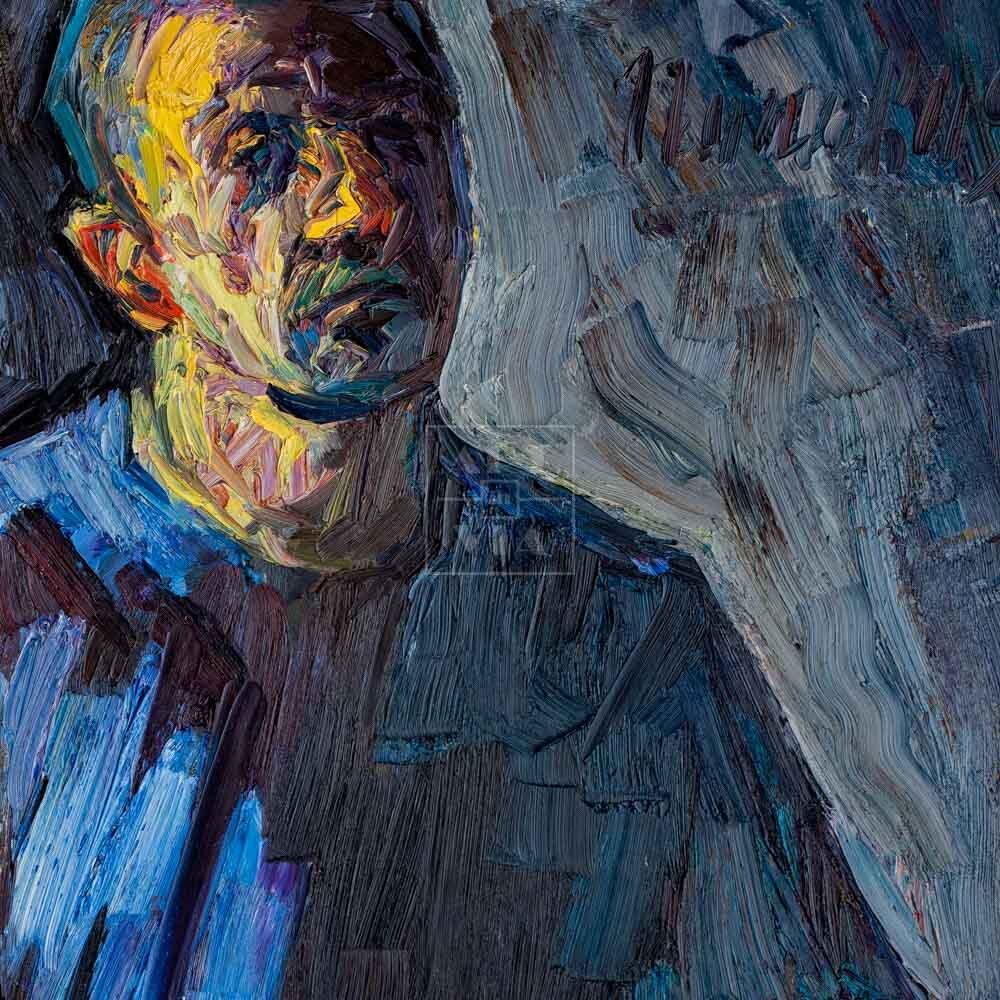 Фрагмент картины 3/3. № 9. Автопортрет