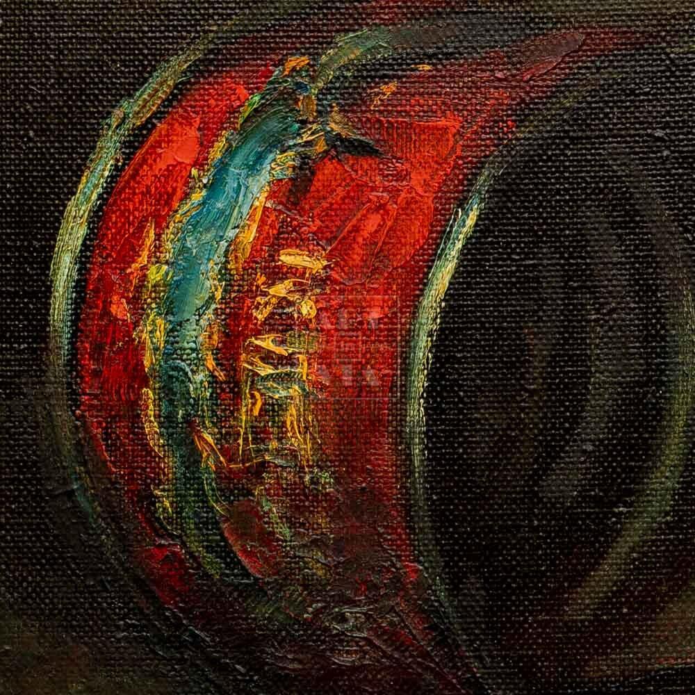 Фрагмент картины 2/3. Натюрморт. Две пустые банки