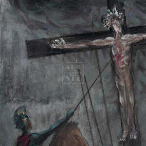 Фрагмент картины 1/3. Распятие Иисуса Христа