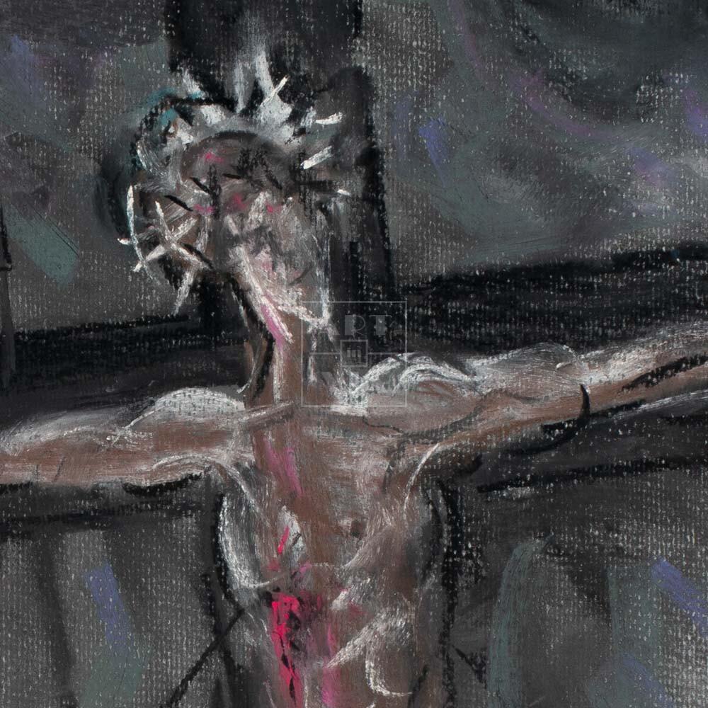 Фрагмент картины 2/3. Распятие Иисуса Христа
