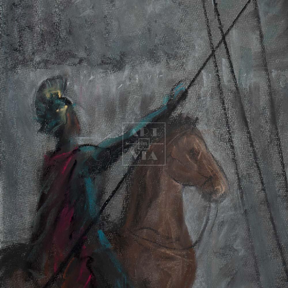 Фрагмент картины 3/3. Распятие Иисуса Христа