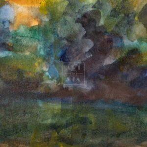 Фрагмент картины 2/3. Пейзаж. На берегу реки Пры