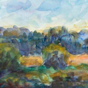 Фрагмент картины 3/3. Пейзаж. На берегу реки Пры