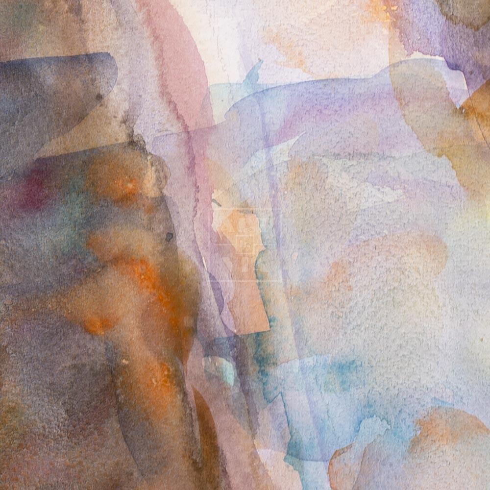 Фрагмент картины 2/3. Пейзаж. Дорога вдоль реки
