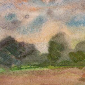 Фрагмент картины 2/3. Пейзаж. Дорога. Окрестности Кинешмы