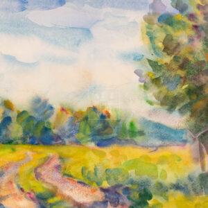 Фрагмент картины 3/3. Пейзаж. Сельская дорога