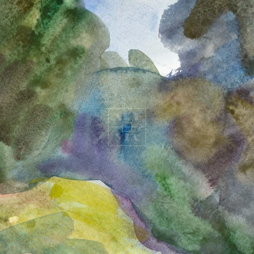 Фрагмент картины 2/3. Пейзаж. Лесная дорога