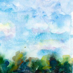 Фрагмент картины 2/3. Пейзаж. Кинешма. На берегу Волги