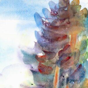 Фрагмент картины 2/3. Пейзаж. Кинешма. Вид на реку