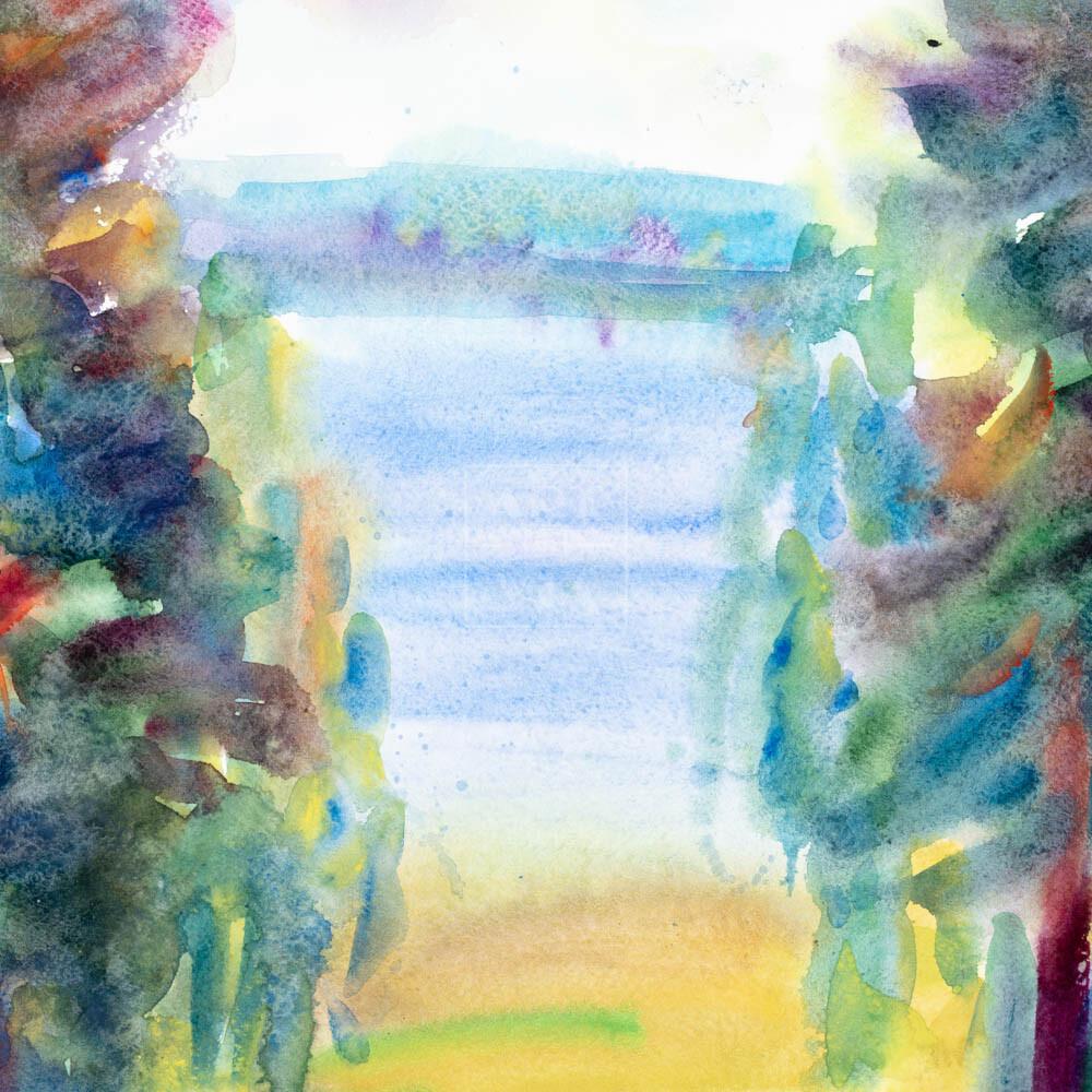 Фрагмент картины 3/3. Пейзаж. Кинешма. Вид на реку