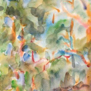 Фрагмент картины 1/3. Пейзаж. № 15. Сквозь кроны сосен