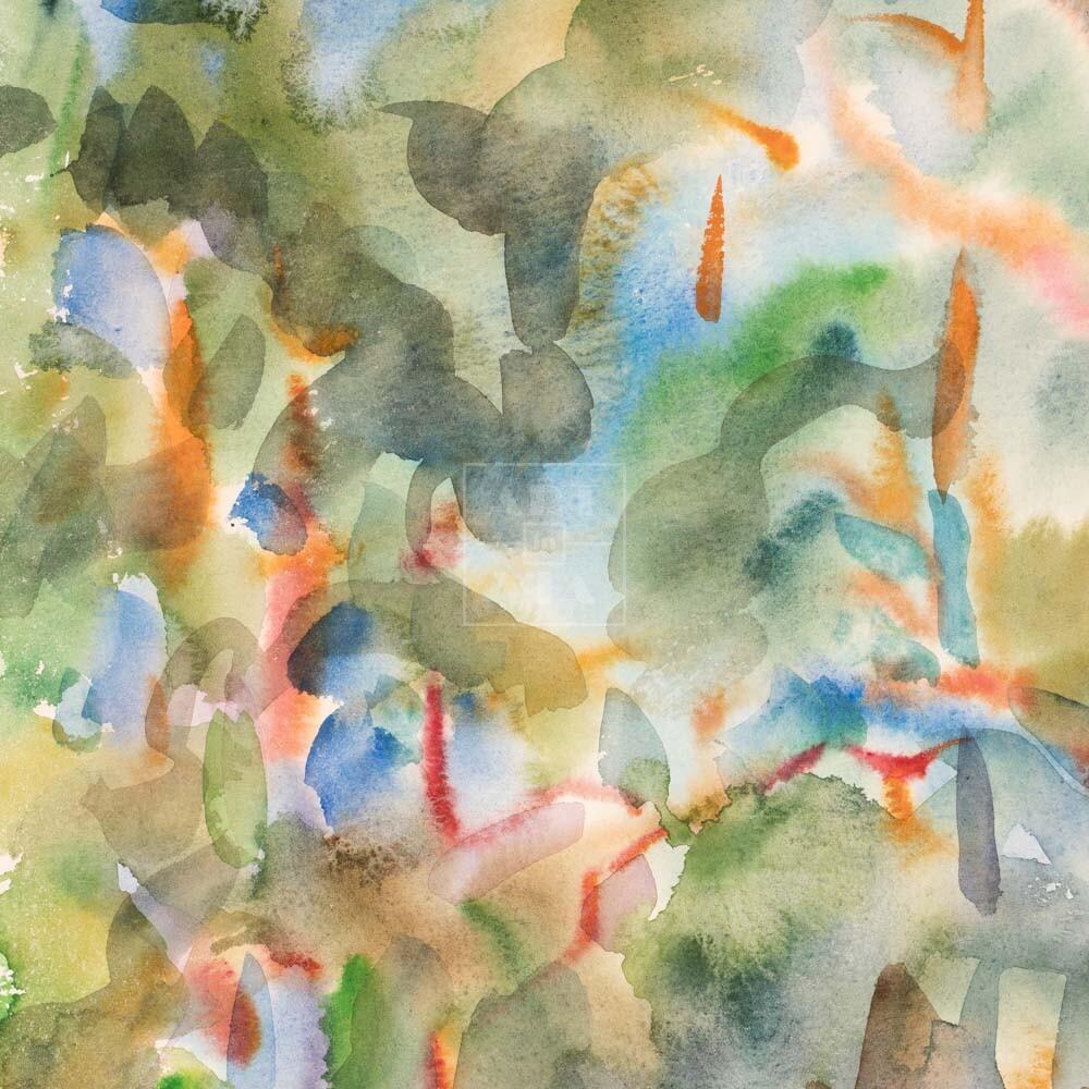 Фрагмент картины 3/3. Пейзаж. № 15. Сквозь кроны сосен