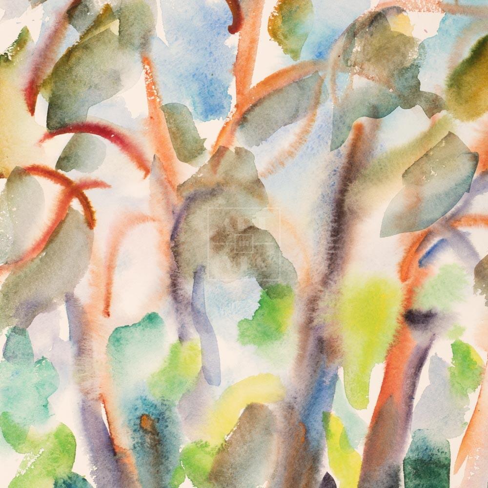 Фрагмент картины 1/3. Пейзаж. № 16. Сквозь кроны сосен