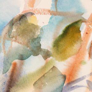 Фрагмент картины 2/3. Пейзаж. № 16. Сквозь кроны сосен