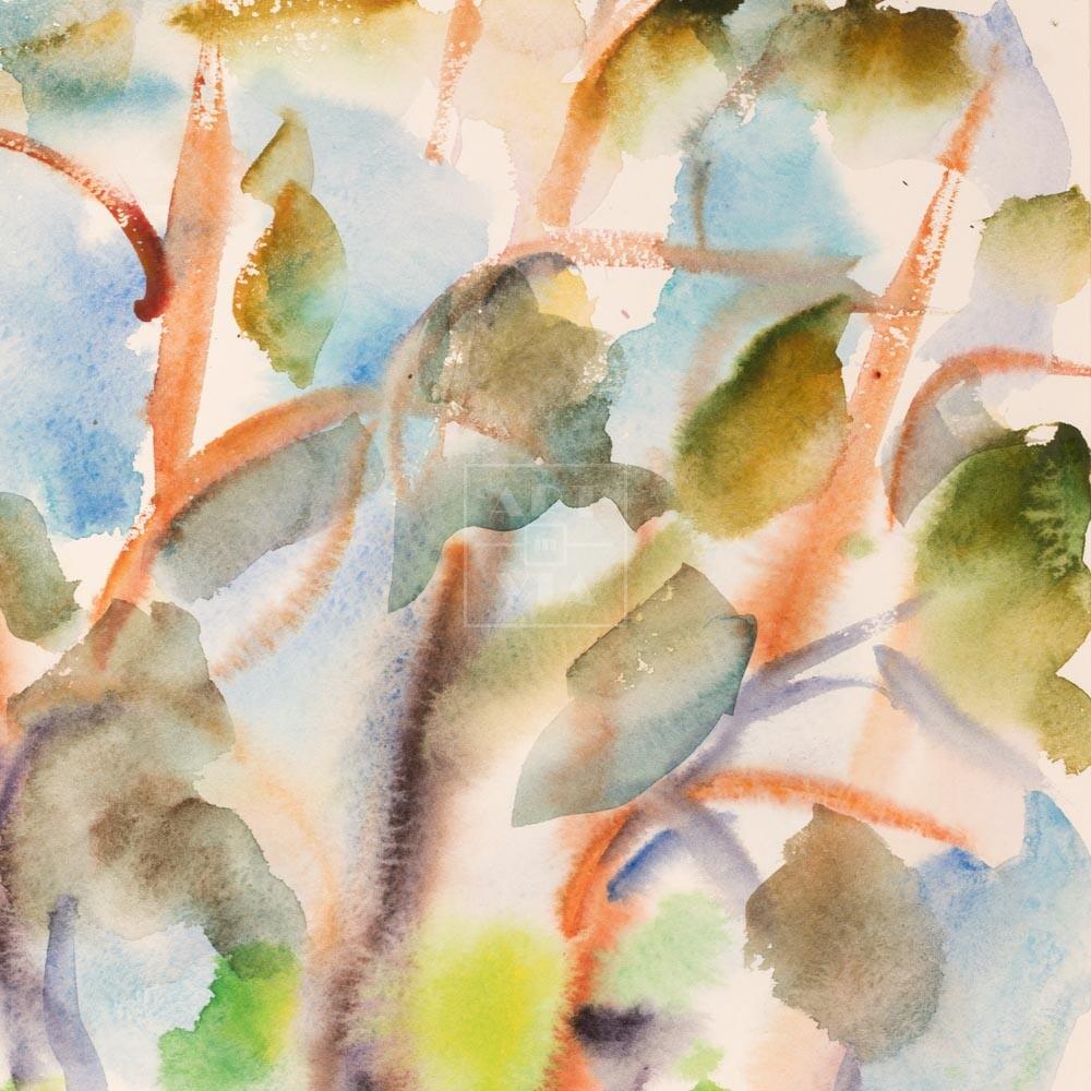 Фрагмент картины 3/3. Пейзаж. № 16. Сквозь кроны сосен