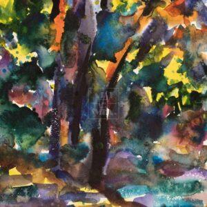 Фрагмент картины 1/3. Пейзаж. № 23. Возле реки Пры