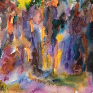 Фрагмент картины 1/3. Пейзаж. № 27. Абстрактный пейзаж