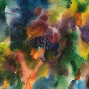 Фрагмент картины 2/3. Пейзаж. № 27. Абстрактный пейзаж