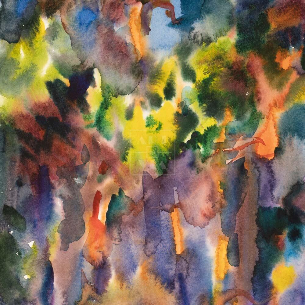 Фрагмент картины 3/3. Пейзаж. № 27. Абстрактный пейзаж