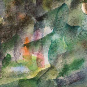Фрагмент картины 2/3. Пейзаж. Тени в лесу