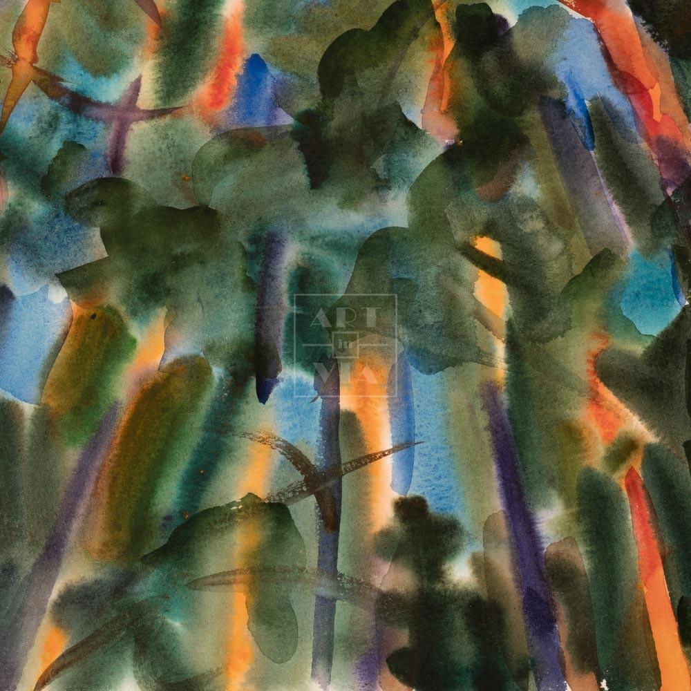 Фрагмент картины 1/3. Пейзаж. № 30. Сквозь кроны сосен