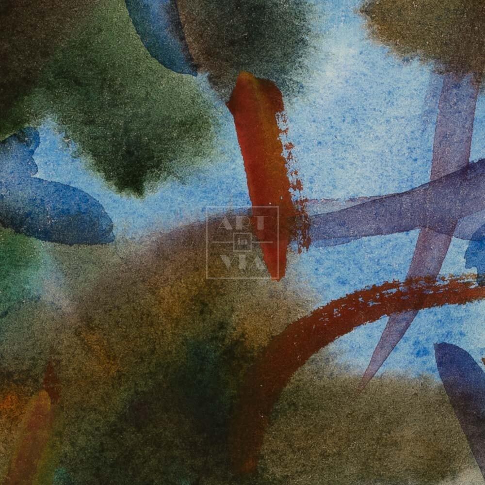 Фрагмент картины 2/3. Пейзаж. № 30. Сквозь кроны сосен