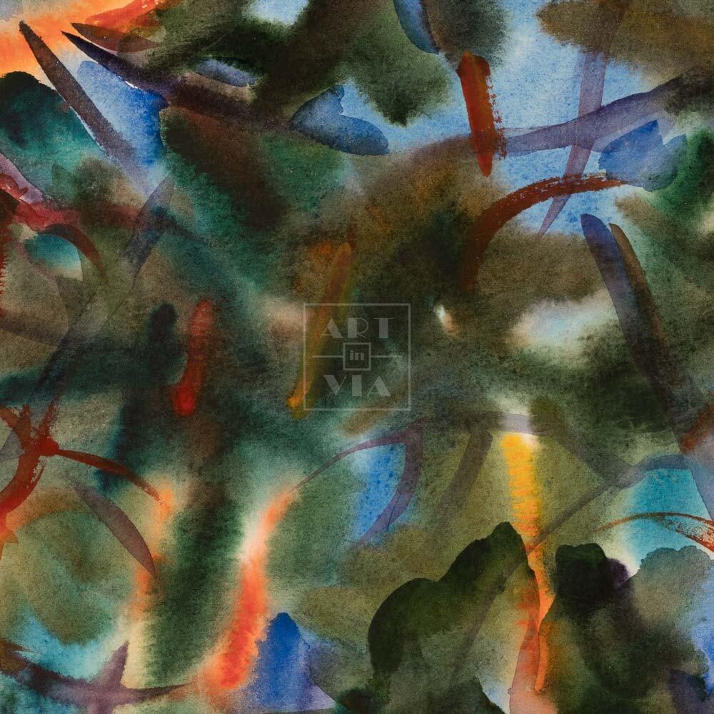 Фрагмент картины 3/3. Пейзаж. № 30. Сквозь кроны сосен