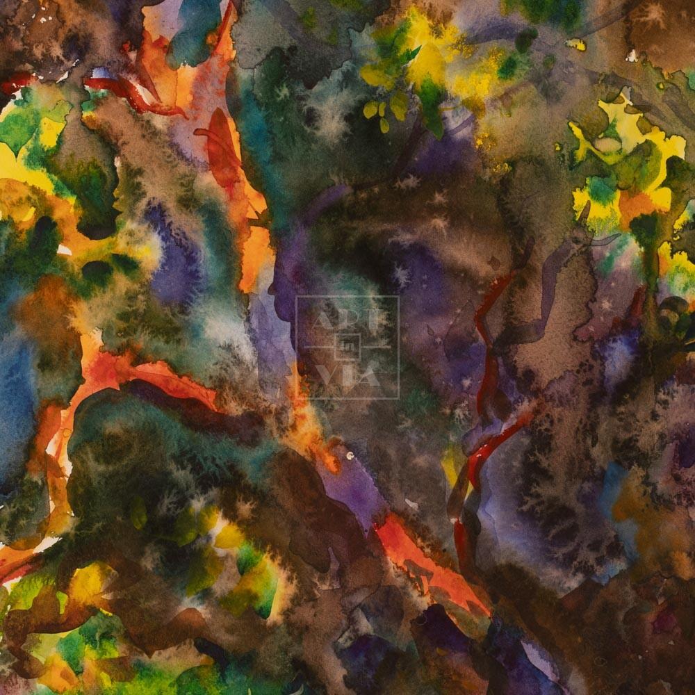 Фрагмент картины 1/3. Абстрактный пейзаж