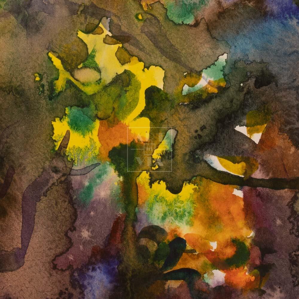 Фрагмент картины 2/3. Абстрактный пейзаж