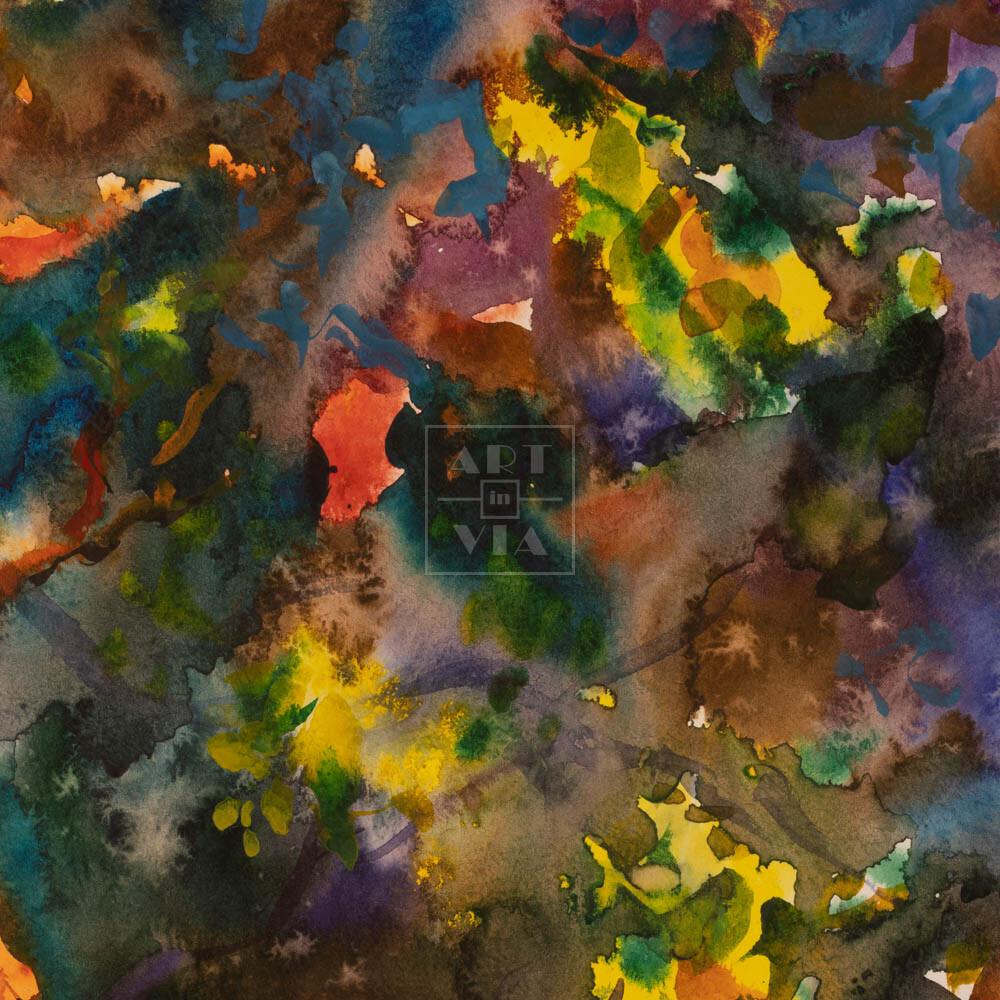 Фрагмент картины 3/3. Абстрактный пейзаж