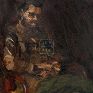Фрагмент картины 1/3. Портрет С. Кускова