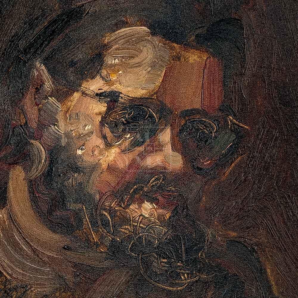 Фрагмент картины 2/3. Портрет С. Кускова