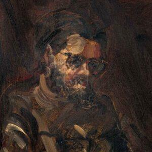 Фрагмент картины 3/3. Портрет С. Кускова