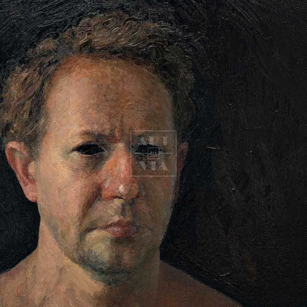 Фрагмент картины 1/3. № 11. Автопортрет