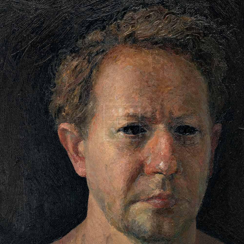 Фрагмент картины 3/3. № 11. Автопортрет