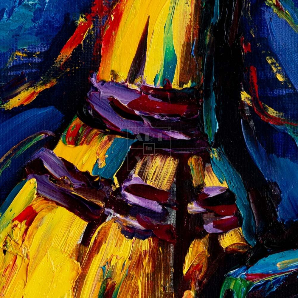 Фрагмент картины 2/3. Натюрморт. Совок и веник