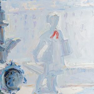 Фрагмент картины 3/3. № 10. Натюрморт со статуэткой и мясорубкой