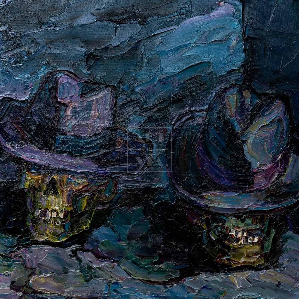 Фрагмент картины 1/3. Ванитас. Джентльмены